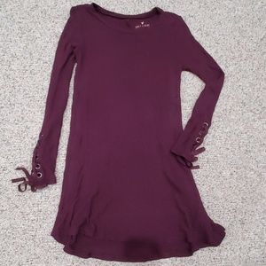 Burgundy Plum Color Sweater Dress